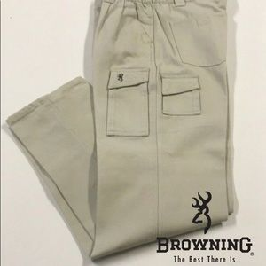 🆕 BROWNING Khaki Cargo Jeans 32 x 32 Pants